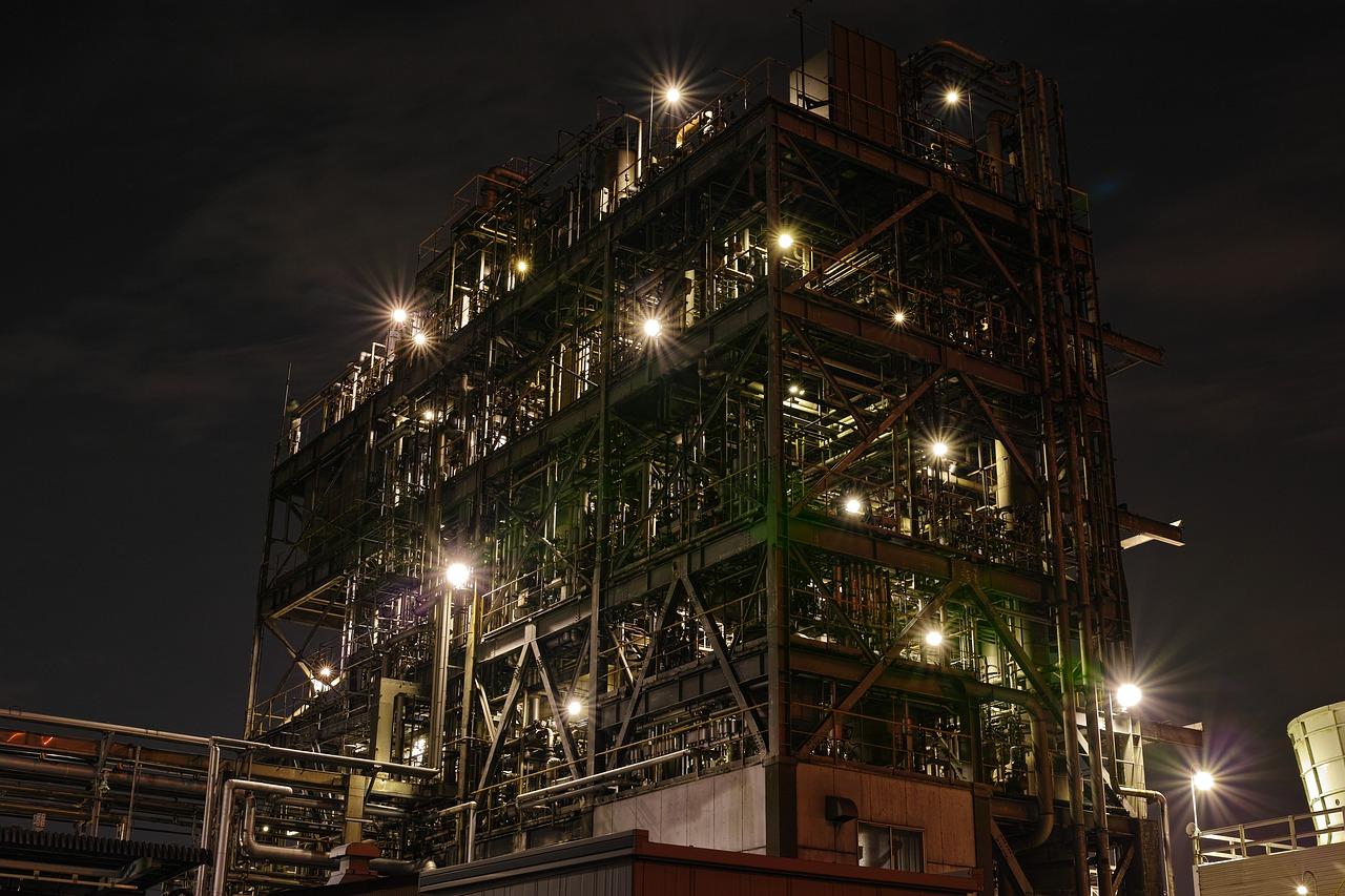 night view, factory, iron-1756228.jpg